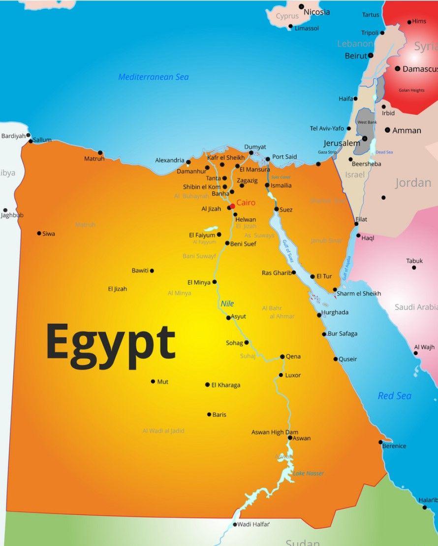 Mapa De Egipto Dónde Está Egipto Ver Nuestro Mapamundi