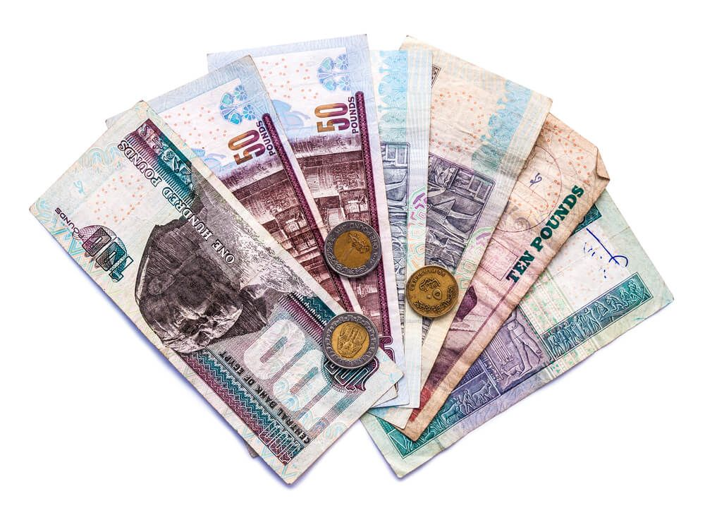 Moneda de Egipto. La moneda Egipcia, divisa Libra Egipcia tipo cambio