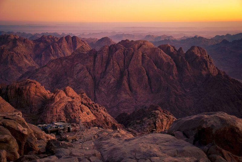 El Monte Sinaí en Egipto