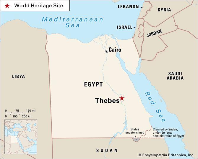Tebas, en Lúxor Egypt