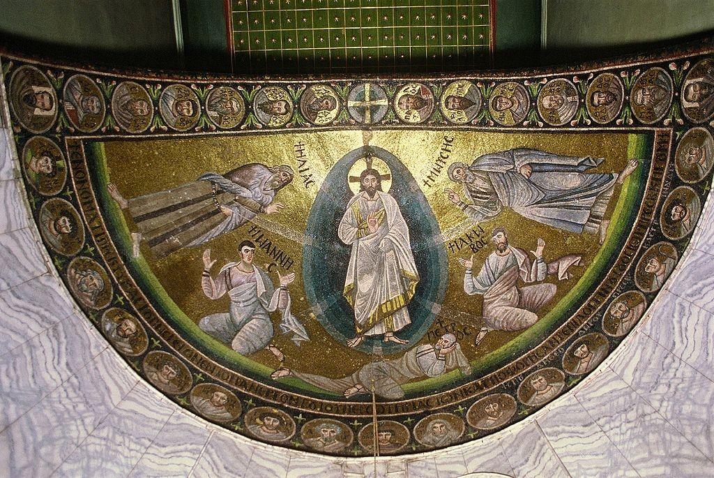 Mosaico de la Transfiguración de Jesús en el monasterio de St Catalina