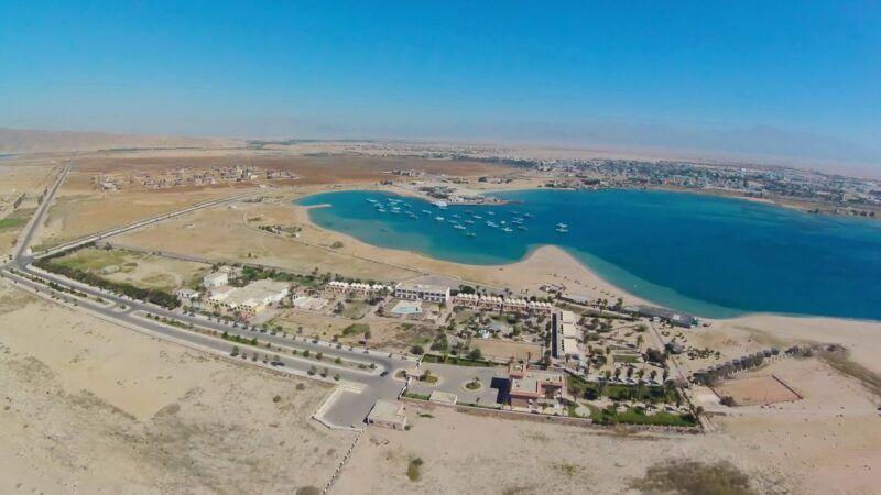 La costa en El Tor, Egipto