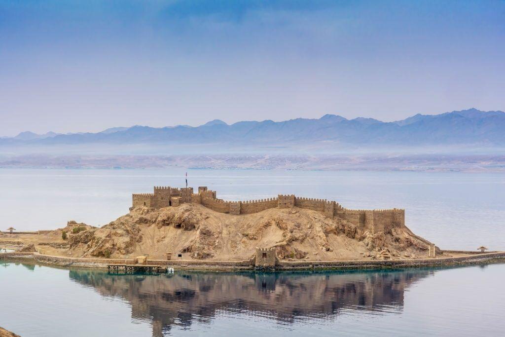 Castillo de Salah El Din en la Isla de Farun.