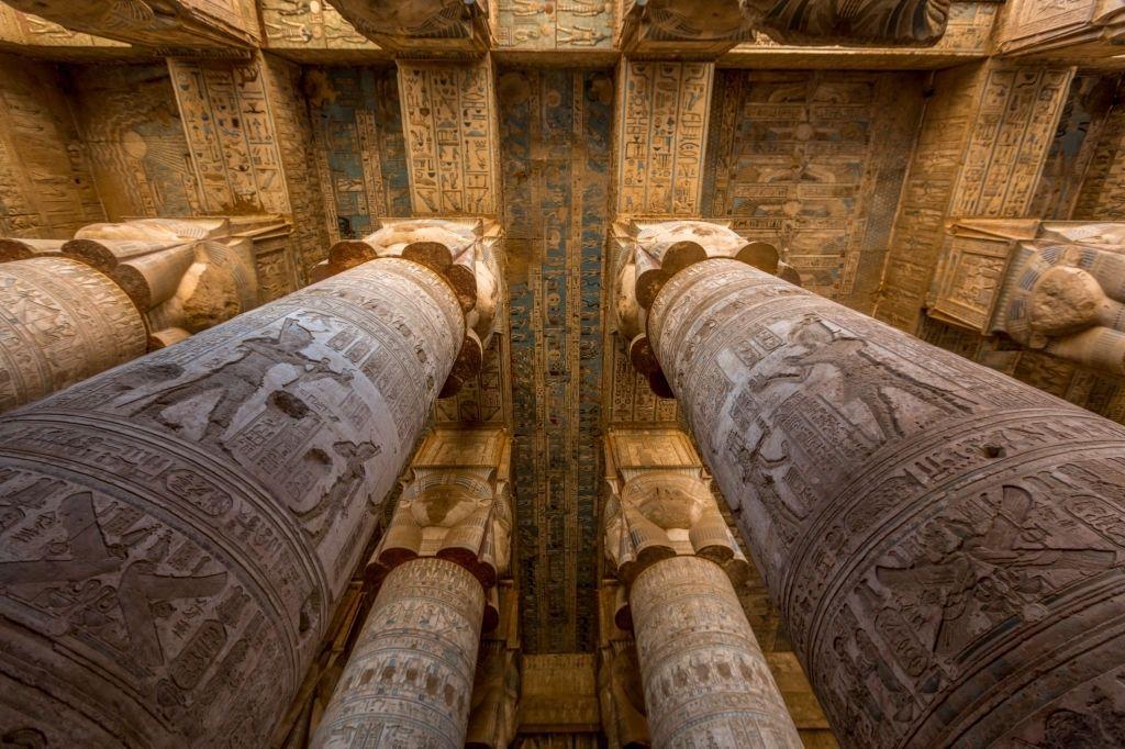 Columnas del Templo de Hathor